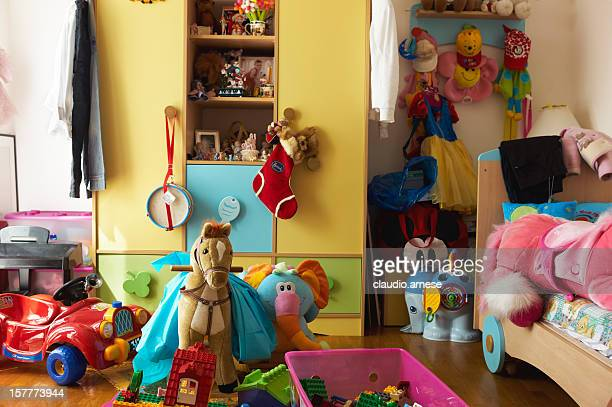 Bedroom with games for children. Color Image