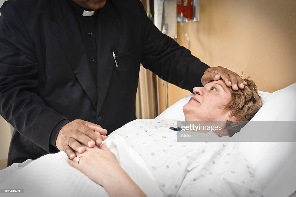 Bedside pastoral services : Stock Photo
