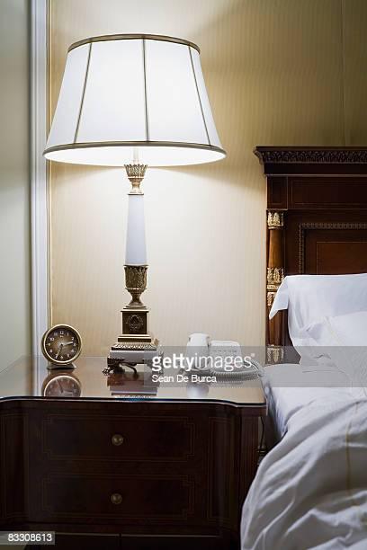 Bedside table in Shelbourne Hotel, Dublin