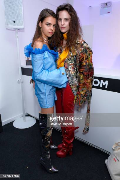 Bee Beardsworth and Daisy Maybe attend the exclusive New Look and British Fashion Council party launching London Fashion Week September 2017 at The...