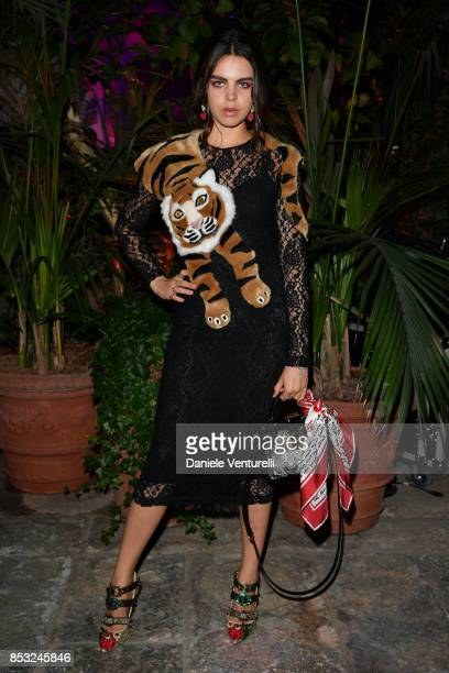 Bee Beardsworth attends Dolce Gabbana Queen Of Hearts Party show during Milan Fashion Week Spring/Summer 2018 at on September 24 2017 in Milan Italy