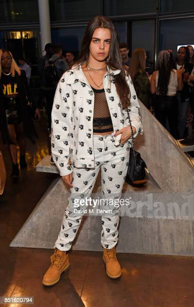 Bee Beardsworth attends the launch of the Timberland Flyroam sneaker at The Scoop on September 22 2017 in London England