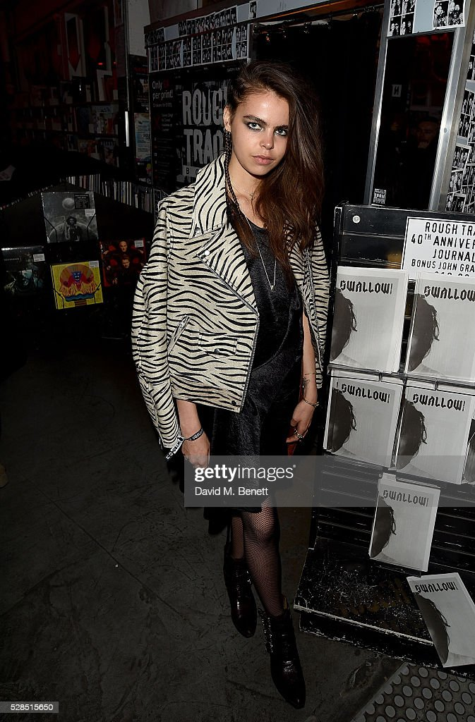 Bee Beardsworth attends to celebrate the launch of McQ Swallow Capsule collection at Rough Trade East on May 5, 2016 in London, England.