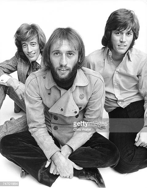 Bee Gees 1968 Robin Gibb Maurice Gibb Barry Gibb during Bee Gees File Photos in London United Kingdom
