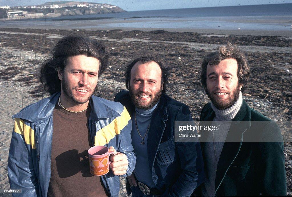 Bee Gees 1976 - Barry Gibb, Maurice Gibb, Robin Gibb on Isle Of Man