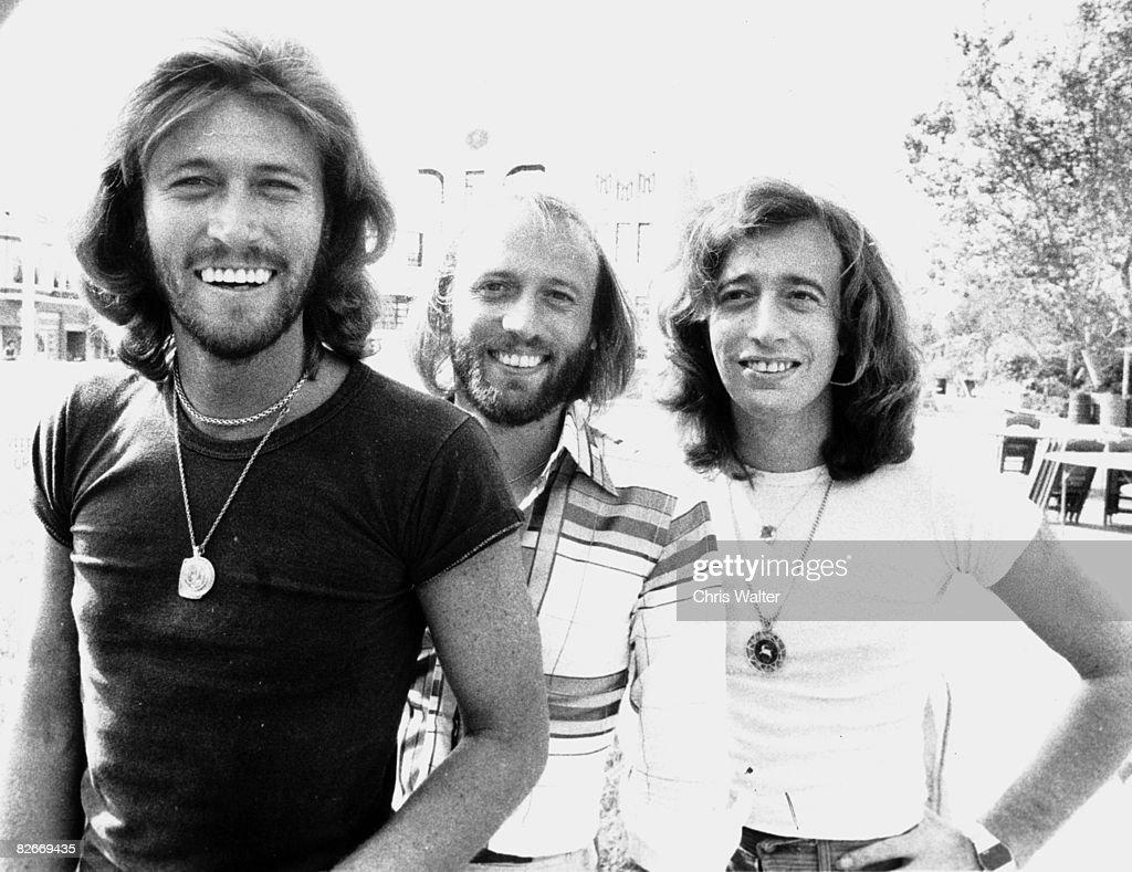 Bee Gees 1978 - Barry Gibb, Maurice Gibb, Robin Gibb on Sgt Pepper set