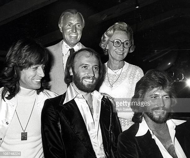 Bee Gees and parents during Robert Stigwood's Party for Bee Gees January 10 1979 in New York City New York United States