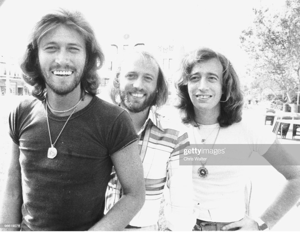 Bee Gees on the Sgt. Pepper film set