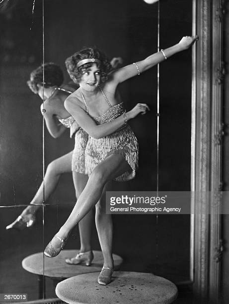 Bee Jackson world Charleston dance champion perfoming in front of a mirror Jackson was the first dancer to popularize the Charleston with white...