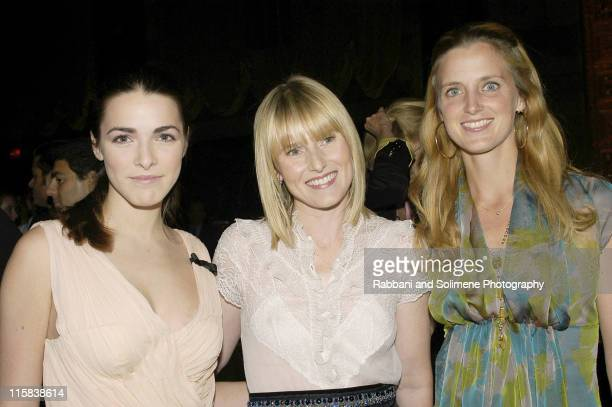 Bee Shaffer Amy Astley and Amanda Cutter Brooks during 2004 New Yorkers for Children Annual Fall Benefit at Cipriani in New York City New York United...