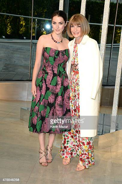 Bee Shaffer and Anna Wintour attend the 2015 CFDA Fashion Awards at Alice Tully Hall at Lincoln Center on June 1 2015 in New York City