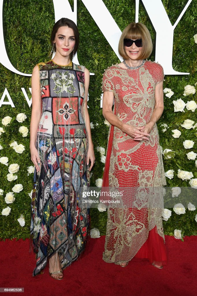 bee-shaffer-and-anna-wintour-attend-the-2017-tony-awards-at-radio-picture-id694962536