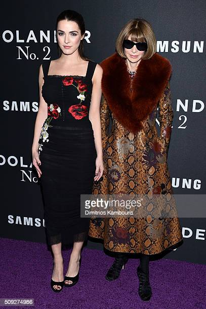 Bee Shaffer and Anna Wintour attend the 'Zoolander 2' World Premiere at Alice Tully Hall on February 9 2016 in New York City
