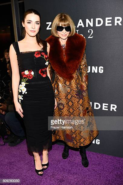 Bee Shaffer and Anna Wintour attend the 'Zoolander No 2' World Premiere at Alice Tully Hall on February 9 2016 in New York City