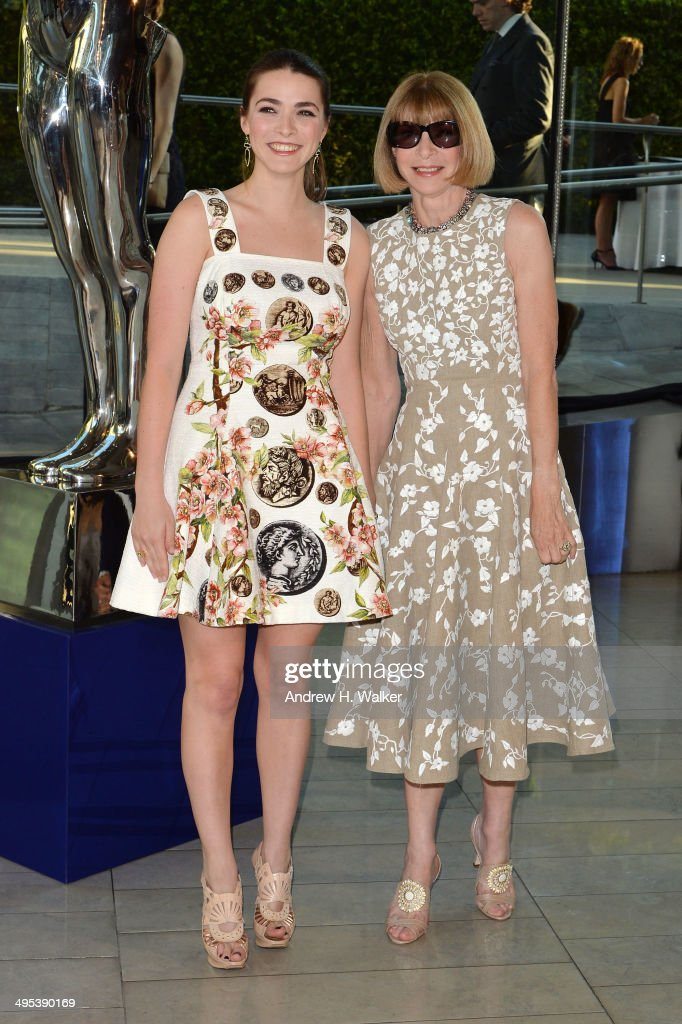 Bee Shaffer (L) and editor-in-chief of American Vogue Anna Wintour attend the 2014 CFDA fashion awards at Alice Tully Hall, Lincoln Center on June 2, 2014 in New York City.