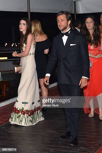 Bee Shaffer and Francesco Carrozzini are seen during the 73rd Venice Film Festival on September 2 2016 in Venice Italy