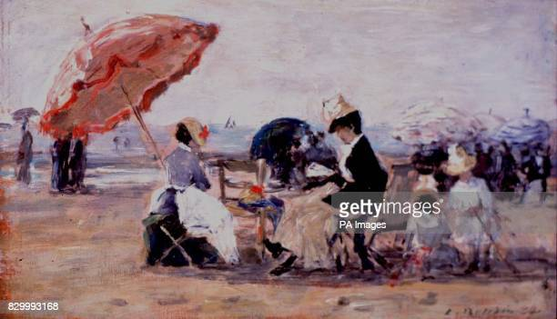 Beech at Trouville by Eugene Boudin 1 of 87 works of art that the Lord Chancellor Lord Irvine is planning to remove from Scottish galleries to...