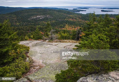 Beech Mtn Trail, Acadia : Stock Photo