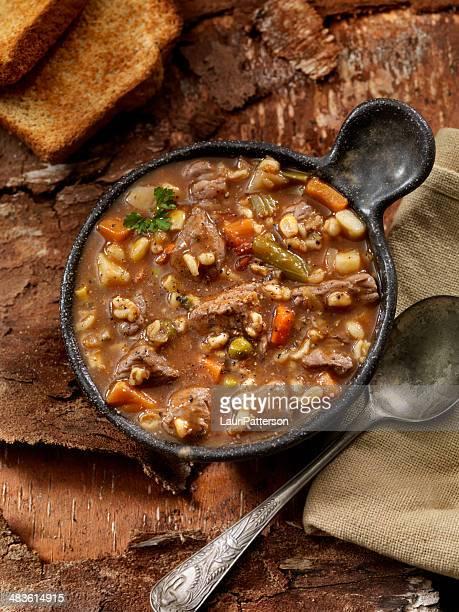 牛肉のスープ、大麦