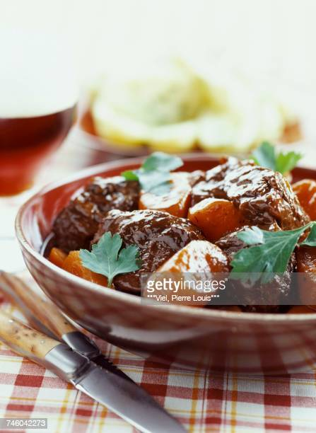 beef and carrots in brown ale