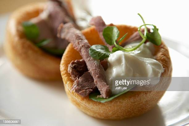 Beef and horseradish yorkshire pudding