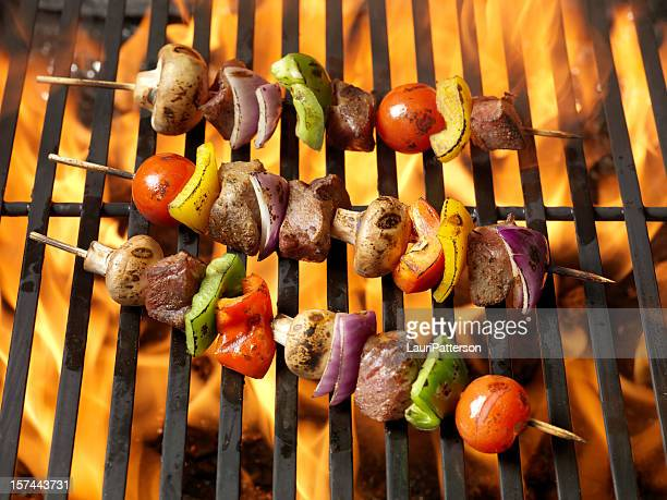 BBQ Beef and Vegetable Kabobs