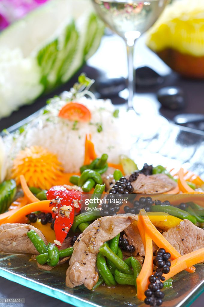 Beef and vegetables : Stock Photo