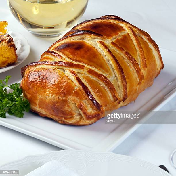 Beef baked in pastry