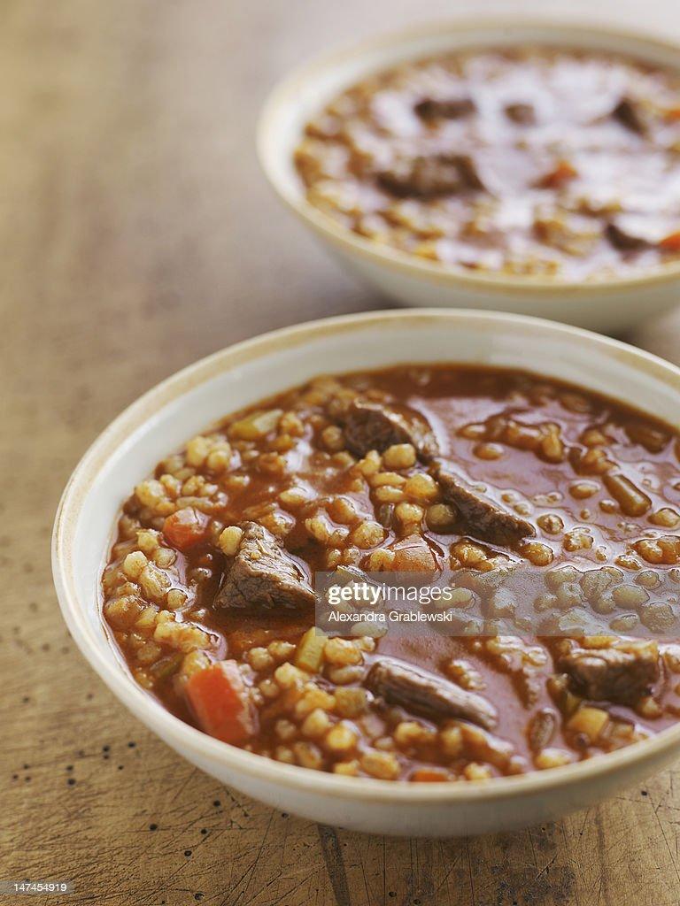 Beef Barley Soup : Stock Photo