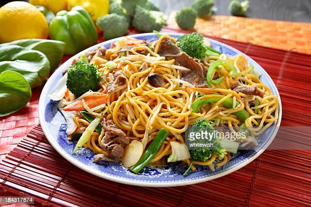 Carne de brócolo Chow Mein