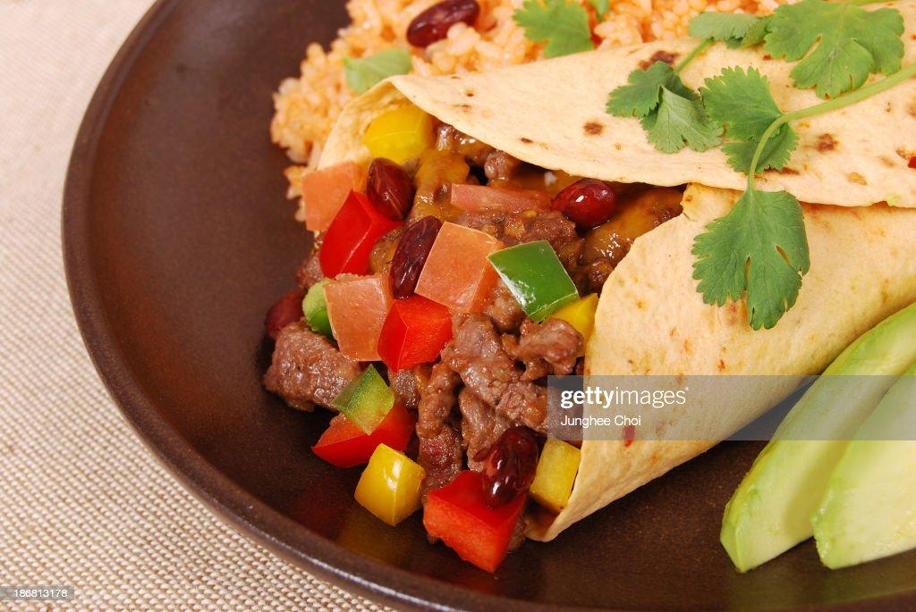 Beef burrito : Stock Photo