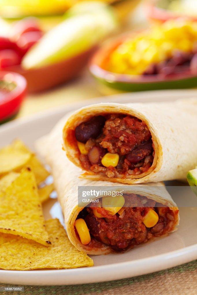 Beef burritos : Stock Photo