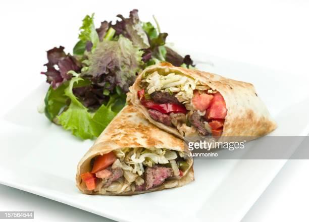 Bœuf Fajita et légumes sandwich wrap
