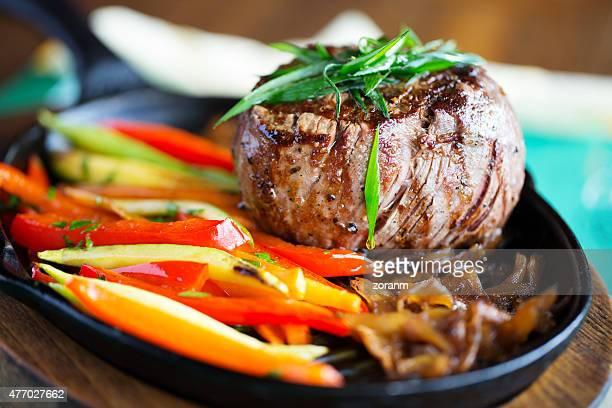 Filetto di manzo alla griglia con verdure