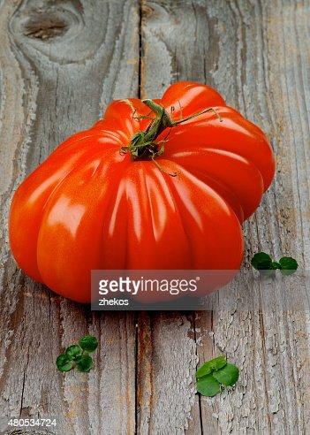 Manzo cuore di pomodoro : Foto stock