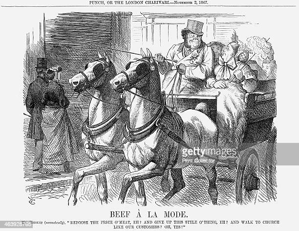 'Beef à La Mode' 1867 A plump and prosperous Mr and Mrs Brisket reject utterly the idea that they might reduce the price of beef In their view this...