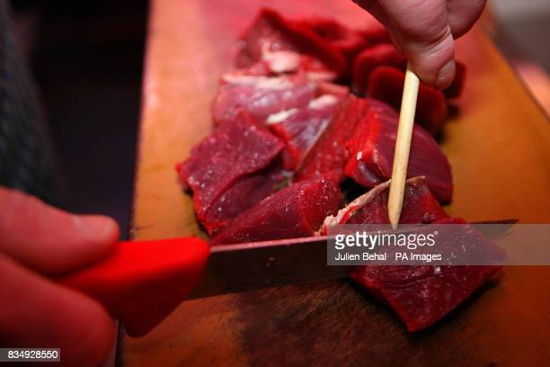 Beef on display for sale in Dublin today after The Department of Agriculture confirmed it was safe to eat beef from cattle in Northern Ireland that...