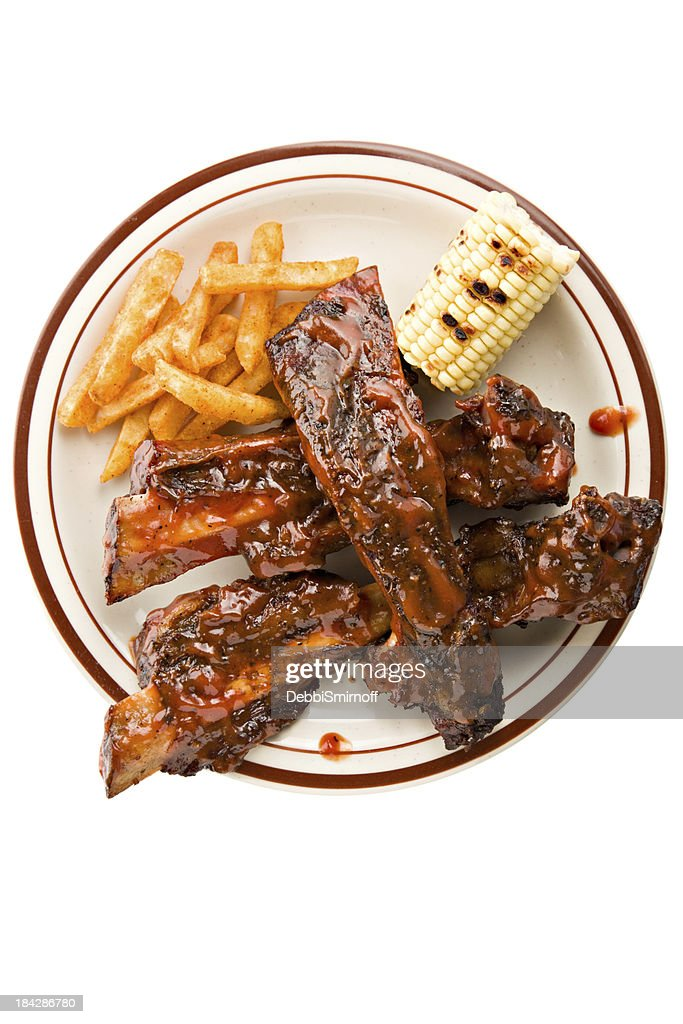 Beef Rib Dinner : Stock Photo