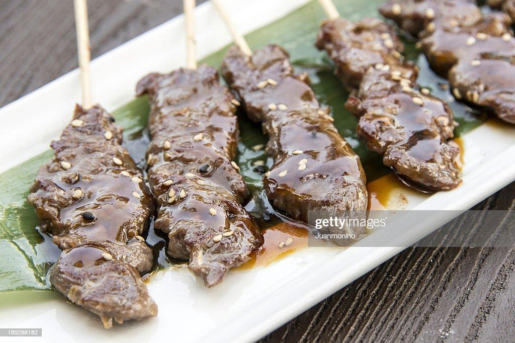 Beef Satay : Stock Photo