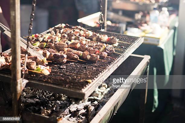 BBQ Beef skewers