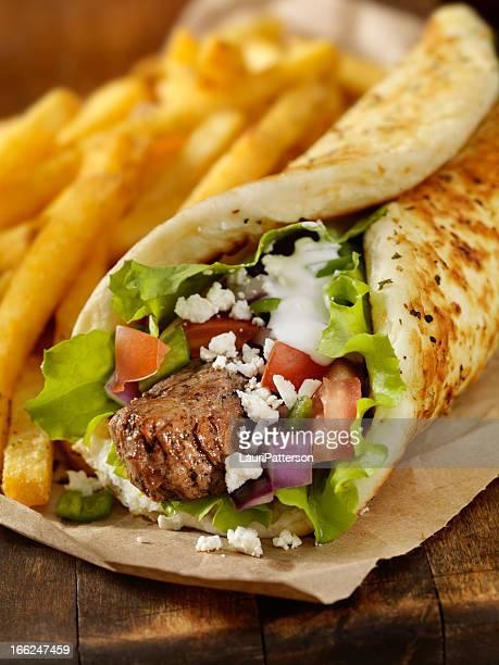 Beef Souvlaki Wrap