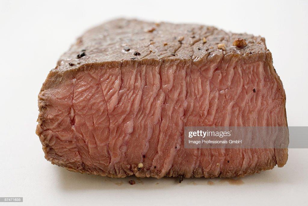 Beef steak, a piece cut off