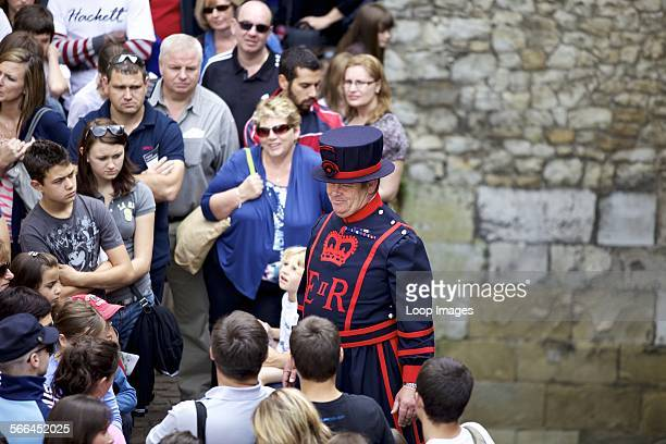 Beefeater tour guide at the Tower of London
