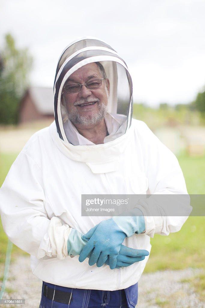 Bee-keeper, portrait