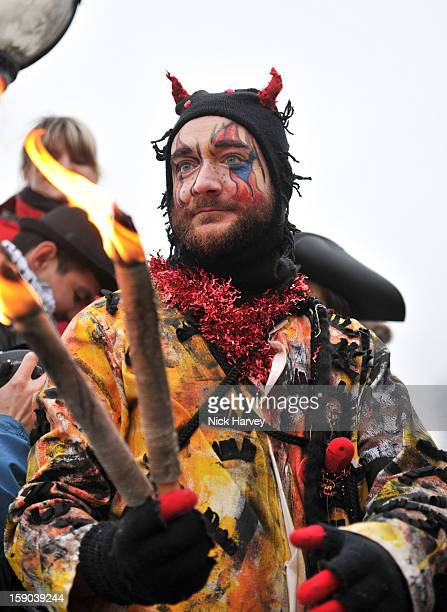 Beelzebub attends the Lions Part's 19th Twelfth Night celebrations at Shakespeare's Globe on January 6 2013 in London England