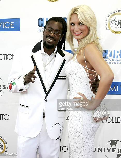 Beenie Man and Brooke Hogan during 'Miami Vice' Miami Premiere Arrivals at Lincoln Theatre in South Beach Florida United States