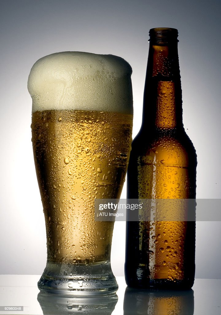 Beer and bottle : Stock Photo