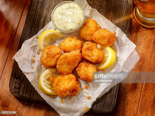 Beer Battered Fish Bites with Tarter Sauce
