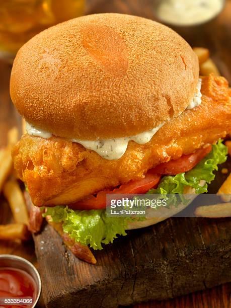 Beer Battered Fish Burger