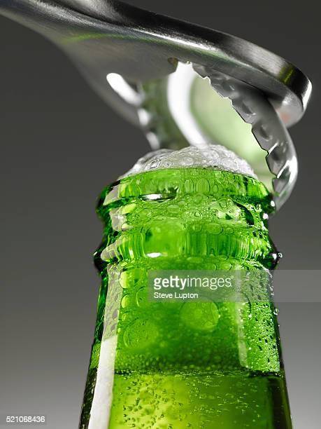 Beer Bottle Being Opened